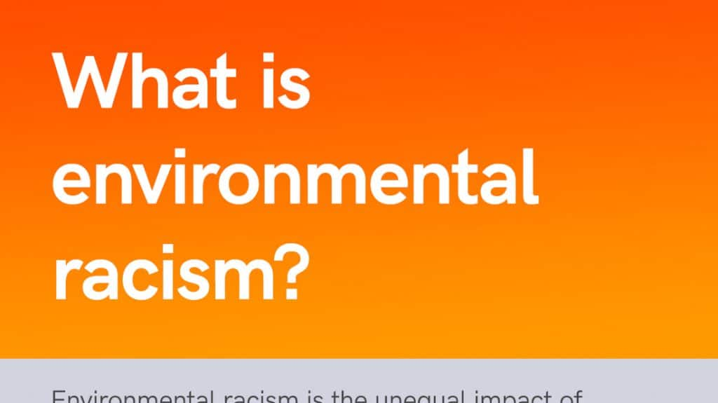 What is environmental racism